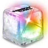 Clear Flashing Ice Cube With Colour Changing LED