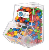 M&Ms in Clear Dispenser