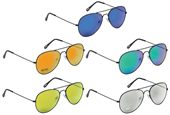 Colour Mirrored Aviator Sunglasses