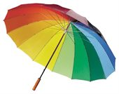 Colourful Sixteen Panel Umbrella