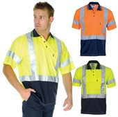 Cross Back Hi Vis Polo Shirt