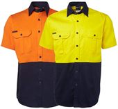 Cotton Hi Vis Safety Shirt