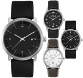 Mens Black Plated Watch