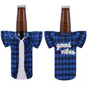 Plaid Shirt Stubby Cooler