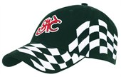 Embroidered Check Flag Cap