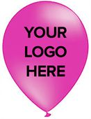Fuchsia Printed Party Balloons