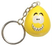 Happy Faced Stress Reliever Keyring