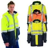 Mid Length Hi Vis Safety Jacket
