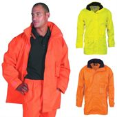 Heavy Duty Hi Vis Rain Jacket