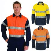Close Front Reflective Tape Hi Vis Shirt