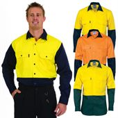 Hi Vis Cotton Drill Work Shirt