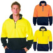 Hi Vis Cotton Fleece Windcheater