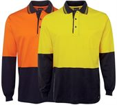 Cotton Long Sleeve Hi-Vis Shirt