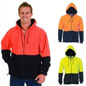 Hi Vis Fleece Hood Jacket