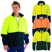 Hi Vis Full Zip Polar Fleece Jacket