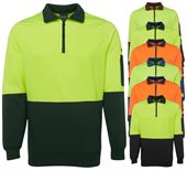 High Vis Half Zip Fleece Top