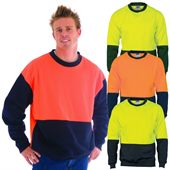 Hi Vis Two Tone Fleece Sweat Shirt