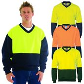 Hi Vis Fleece V Neck Sweater