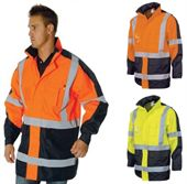 Hi Vis Waterproof Rain Jacket