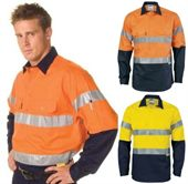 High Vis Lightweight Cotton Work Shirt