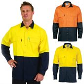 Long Sleeve High Visibility Work Shirt