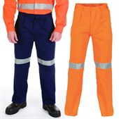 High Vis Reflective Cotton Work Trouser