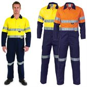 High Visibility Cotton Work Coverall