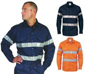 Hi-vis Long Sleeve Reflective Work Shirt
