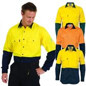 High Visibility Long Sleeve Work Shirt