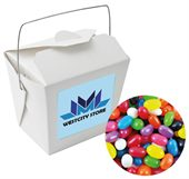 Jelly Beans Mixed Colours White Noodle Box
