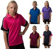 Kids Contrast Polyester Polo Shirt