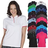 Womens Contrast Polo Shirts