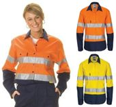 Ladies Hi-Vis Reflective Work Shirt
