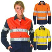 Ladies High Vis Reflective Work Shirt