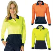Ladies Hi Vis Long Sleeve Polo