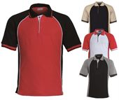 Ladies Three Tone Panel Polos