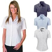 Striped Ladies Shirt with Short Sleeves