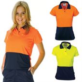 Ladies Two Tone Hi Vis Polo