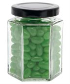 Large Hexagon Jar Corporate Colour Mini Jelly Beans