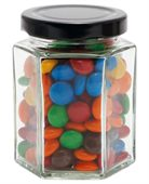 Large Hexagon Jar M&Ms
