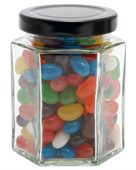 Large Hexagon Jar Mixed Mini Jelly Beans