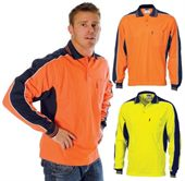 Long Sleeve Hi Vis Contrast Panel Shirt