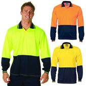 High Vis Long Sleeve Food Polo