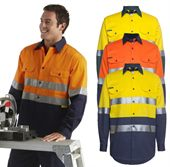 Hi Vis Long Sleeve Work Shirt