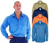 Mens Work Shirt With Gusset Sleeves