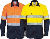 Hi-Vis Long Sleeve Vented Work Shirt
