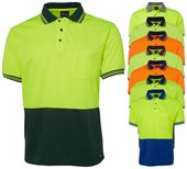 Mens Short Sleeve Hi Vis Polo