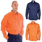 Mens Long Sleeve Drill Shirt