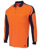 High Vis Mens Long Sleeve Polo
