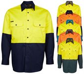 Mens Long Sleeve Hi Vis Shirt